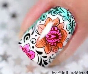 designs, nails, and diseños image
