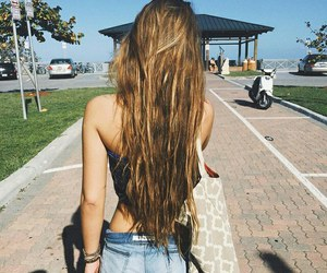 hair, girl, and summer image