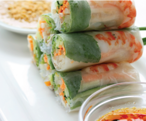 food, vietnamese, and spring roll image