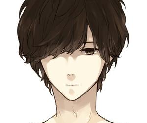 anime, boy, and sad image