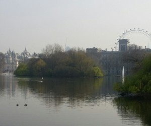 lake, london, and eye of london image