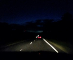 blurry, dark, and highway image