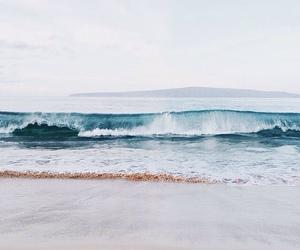 beach, boho, and ocean image