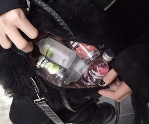 alcohol, vodka, and black image