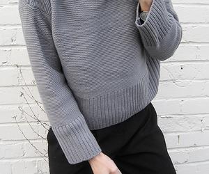 fashion, black, and grey image
