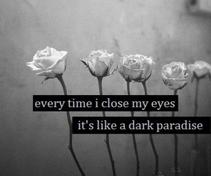 dark, paradise, and quotes image