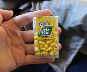 food, minions, and tic tac image