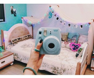 room, polaroid, and camera image