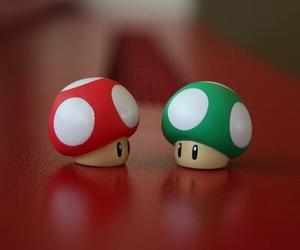 mario, mushroom, and red image