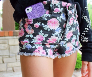 shorts, flowers, and quality image