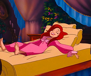 ariel, disney, and sleep image