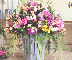 flores, flowers, and gift image