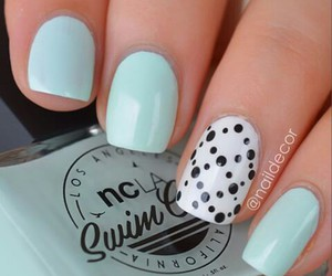 nails, blue, and ideas image