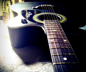 guitar, music, and love image