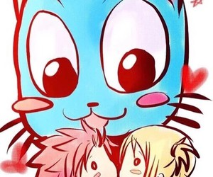 happy, nalu, and kiss image