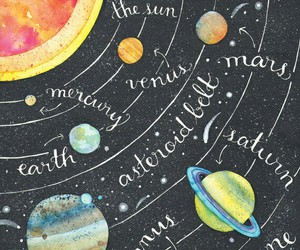 art, earth, and solar system image