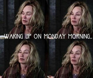 funny, morning, and american horror story image