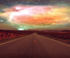 road, sky, and galaxy image