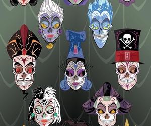 disney, villains, and skull image