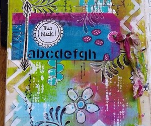 art journal, background, and art journal page image