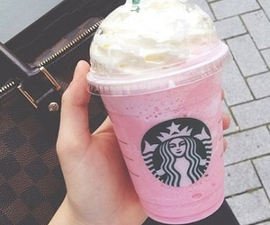 pink, starbucks, and drink image