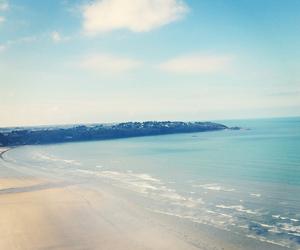 beach, turquoise, and bretagne image