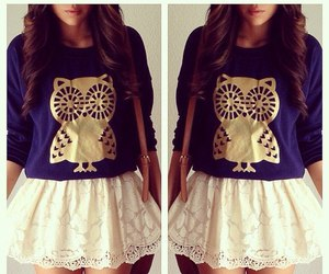 fashion, outfit, and owl image