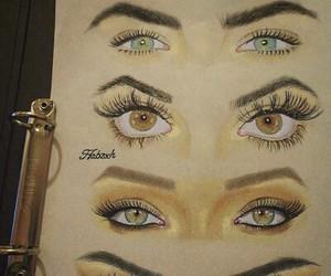 eyes, drawing, and rihanna image