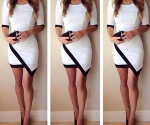 dress, outfit, and white image