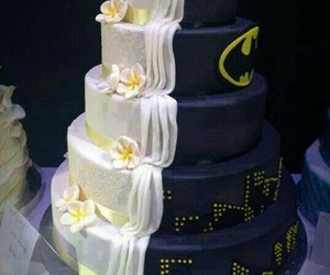 batman, cake, and wedding image