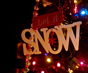 christmas, snow, and let it snow image