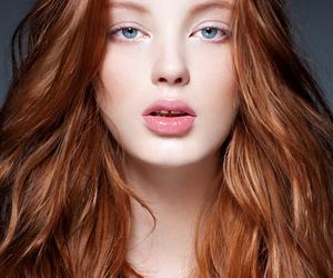 beautiful, girl, and redhead image