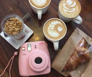 camera, coffee, and delicious image
