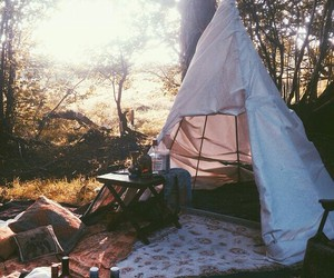 camping, tent, and travel image