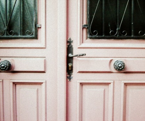 door and pink image