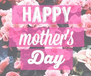 flowers, happy, and mom image