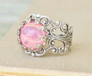 beautiful, pink, and ring image