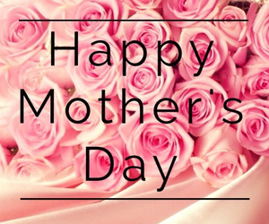 pink, happy mother's day, and flowers image
