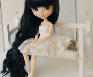bjd, toys, and black hair image
