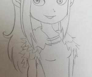 draw, elf, and fantasy image