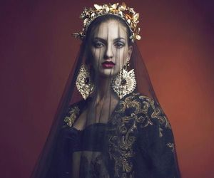 black, Queen, and veil image