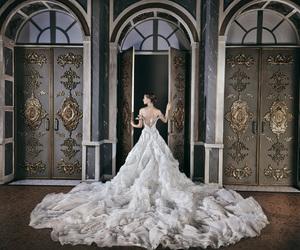 dress, wedding dress, and princess image