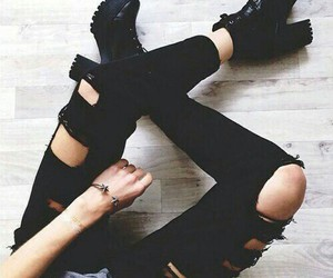 black, fashion, and shoes image