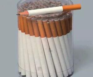 pencil, cigarette, and smoke image