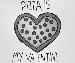pizza, love, and valentine image