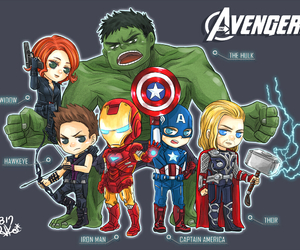 Avengers, hawkeye, and Hulk image