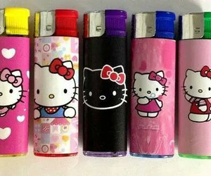 cigarettes, hello kitty, and pink image