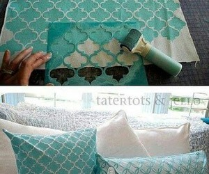 diy, pillow, and blue image