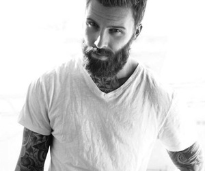 tattoo, man, and beard image