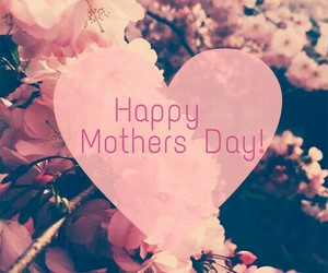 flowers, mothers day, and heart image
